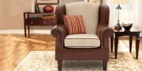 Royal Classy Wingback Chair In Brown Colour | Dreamzz ...