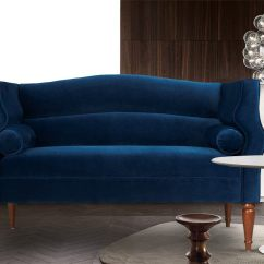 Sofa Blue Color Gordon Gretel Two Seater In Dreamzz Furniture Online