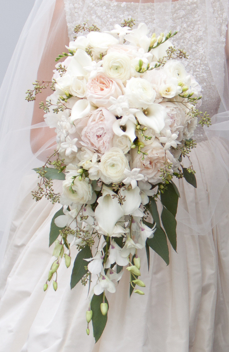 Cascade Bouquet with Freesia from Style Me Pretty
