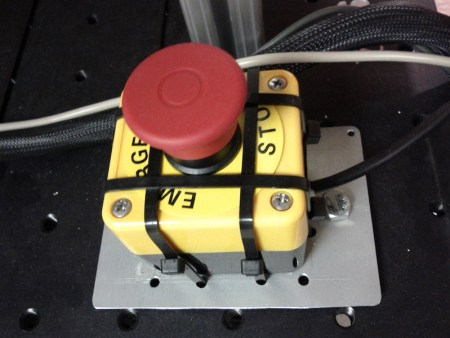 big red stop button for a robot, i think from bosch