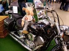 Werner auf dem Motorrad