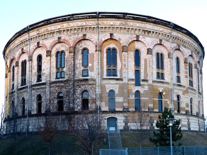 Aussenansicht vom Gasometer Dresden
