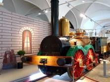 Alte Lok im Verkehrsmuseum Dresden