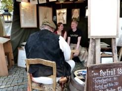 Tag der Sachsen 2014 Portraitzeichner