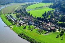 Blick auf Rathen und Elbe Ausflugsziel