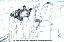 Zeichnung Felsenburg