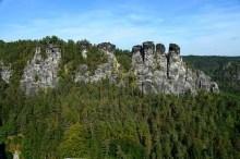 Panorama Felsen Sächsische Schweiz