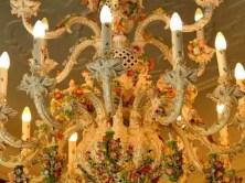 Verzierter Kronenleuchter Schloss Rammenau