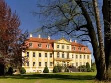Blick auf Schloss Rammenau