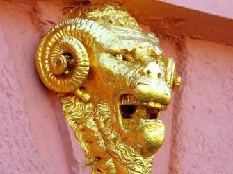 Goldenes Wandbild Schloss Augustusburg