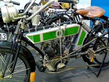 Grün-graues Motorrad