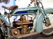 Victoria Motorrad hellblau