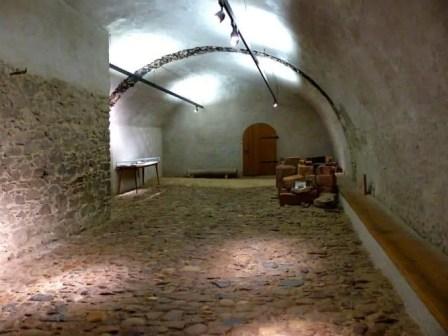 Kellergewölbe der Burg Kriebstein