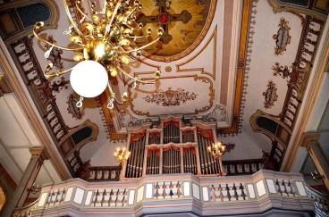 Orgel mit Deckenmalerei Burg Stolpen