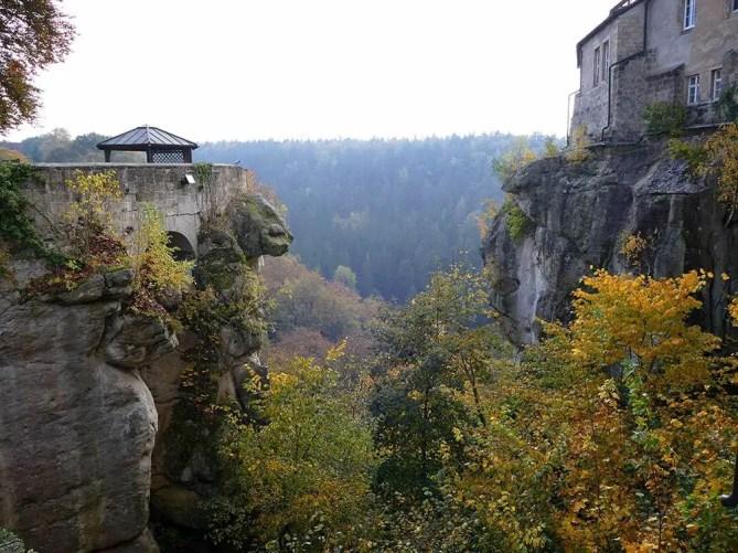 Felsvorsprung Burg Hohnstein