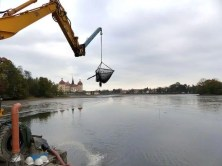 Kran zum abfischen Moritzburg
