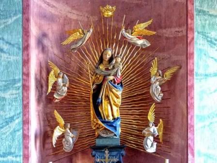 Bildnis Maria mit Kind und Engeln