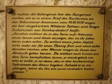 Tafel Wand Burg Hohnstein
