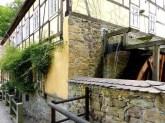 Seitenansicht Wasserrad Zschoner Mühle