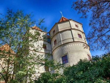 Turm Bäume Schloss Scharfenberg