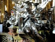 Figur Metall Schwert Helm