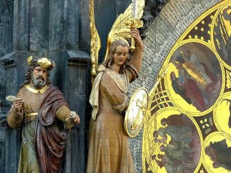 Figuren Engel Gold
