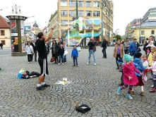 Prag Seifenblasen Künstler