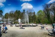 Wasserdampf Fontäne