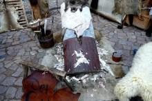 Tierfellbearbeitung Mittelalterfest Meißen Albrechtsburg