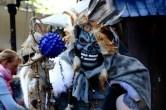 Medizinmann mit Maske Albrechtsburg Mittelalterfest Meißen