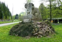 Skulptur Steinbock Wildpark Osterzgebirge