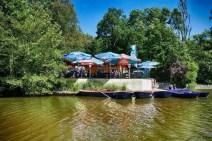 Biergarten am Carolasee mit Bootsverleih