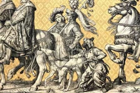Reiter mit Pferd Fürstenzug Dresden