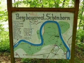 Bergbauareal Schönborn Karte