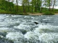 Steiniges Flussbett Zschopau