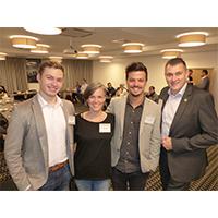 v.l.n.r. das Führungsteam des BNI-Heldenstadt-Chapters: Lukas Terpitz, Kristin Kluck und Dominic Wieland sowie Regionaldirektor Jens Fiedler. Bildquelle: meeco Communication Services