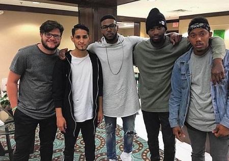 Darrel Walls with his friends