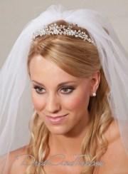 princess rhinestone silver wedding