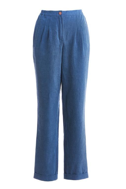 синие-брюки-с-высокой-талией-из-крапивы