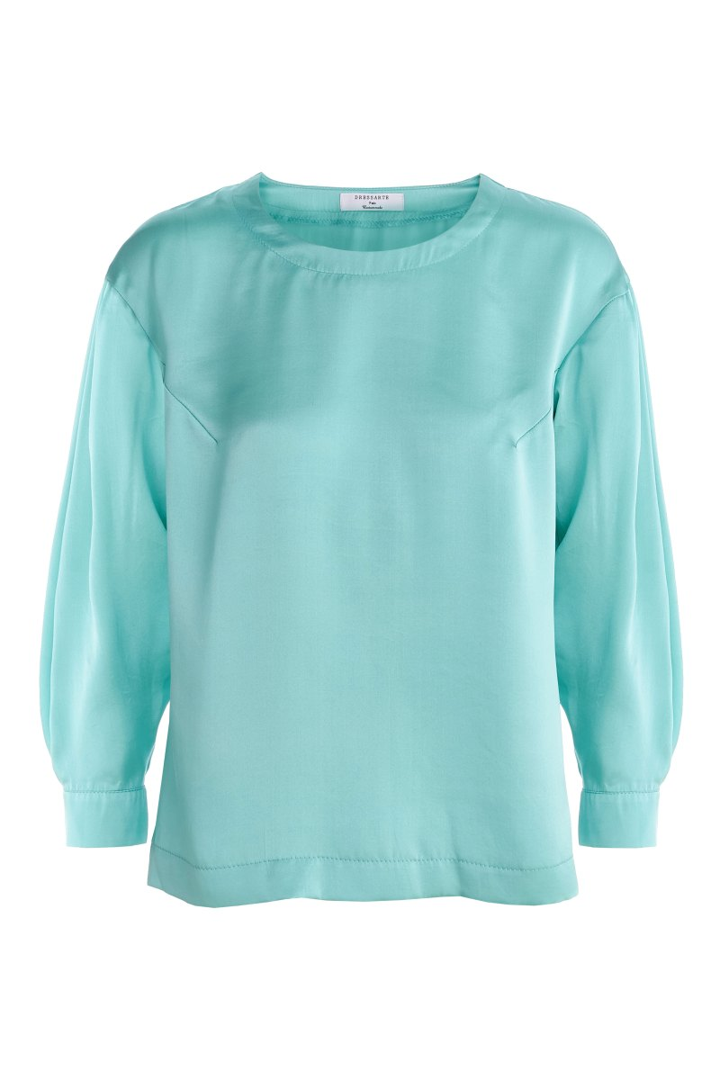 Mint-silk-long-sleeve-made-to-measure-blouse