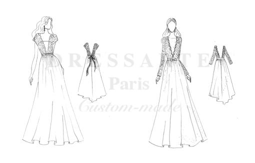 wedding bespoke dress