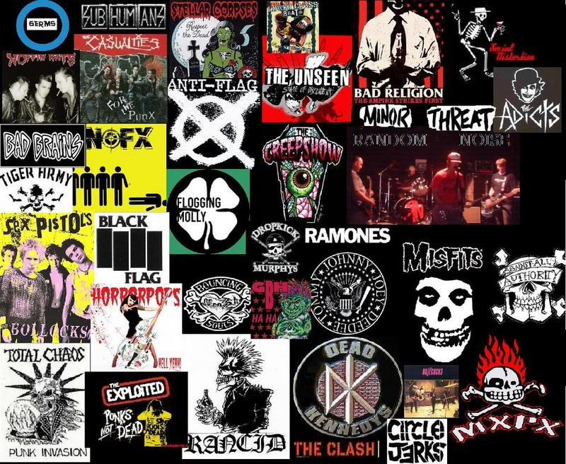 Punk Band Logos Collage
