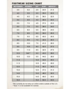 Vans footwear sizing chart also dresscodeclothing   official blog rh