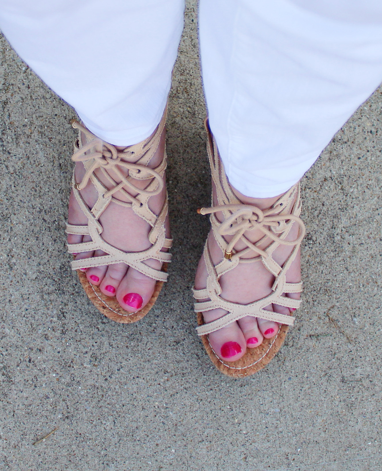 Polished Toe Nails And Sandals