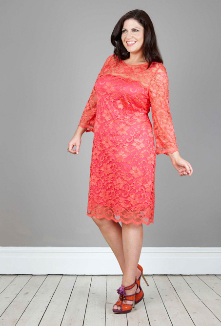 Coral Lace Dress  Dressed Up Girl