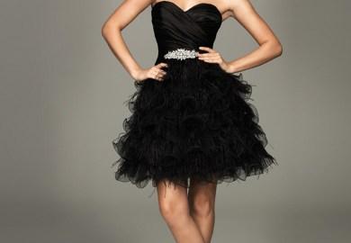 Black Halter Short Dress