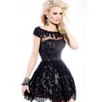 Short Black Sherri Hill Prom Dress
