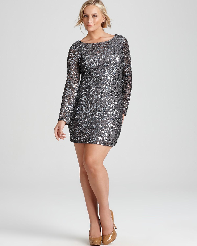 Long Sleeve Sequin Dress Picture Collection  DressedUpGirlcom