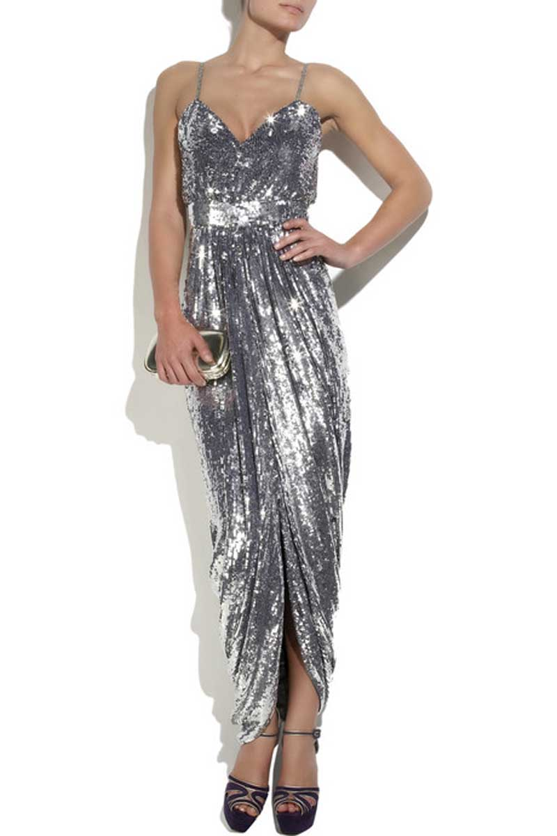 Silver Sequin Dress Picture Collection