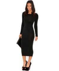 Black Midi Dress Picture Collection | Dressed Up Girl